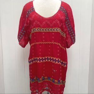 Johnny Was Red blouse, XL